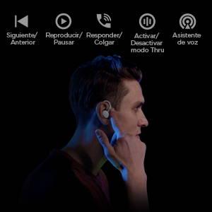 Amazfit PowerBuds - 100% inalámbricos. Sensor de detección de uso y función táctil