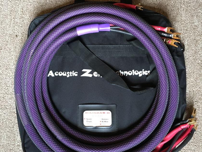 Acoustic Zen Technologies Hologram II 10' Bi-Wire  Mint Condition