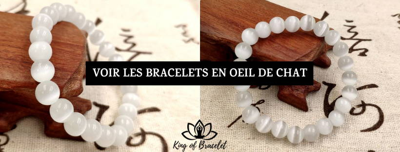 Bracelet Oeil de Chat Blanc - King of Bracelet