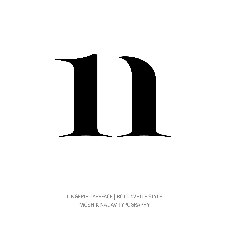 Lingerie Typeface Bold White n