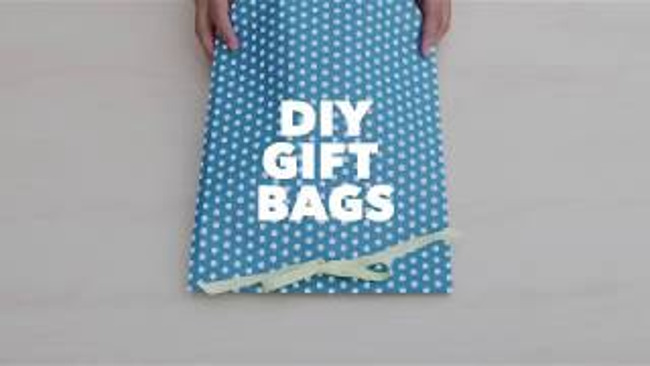 These cute DIY gift bags are a present all by themselves