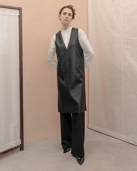 Платье-туника из ЭКОкожи