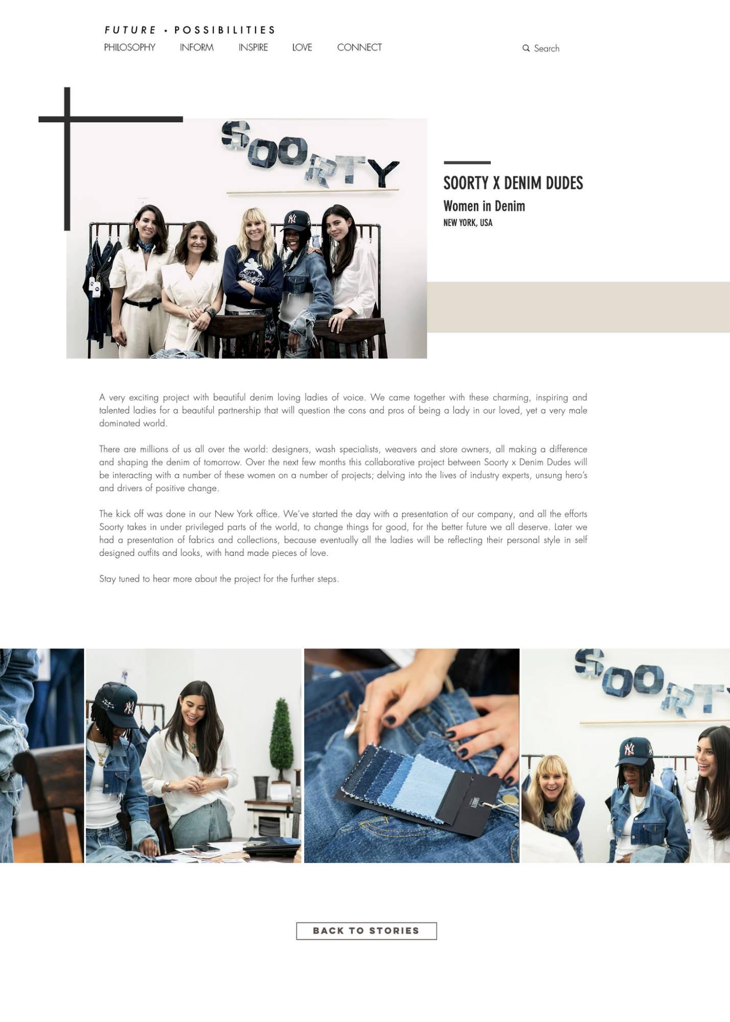 SOORTY X DENIM DUDES  Women in Denim Article