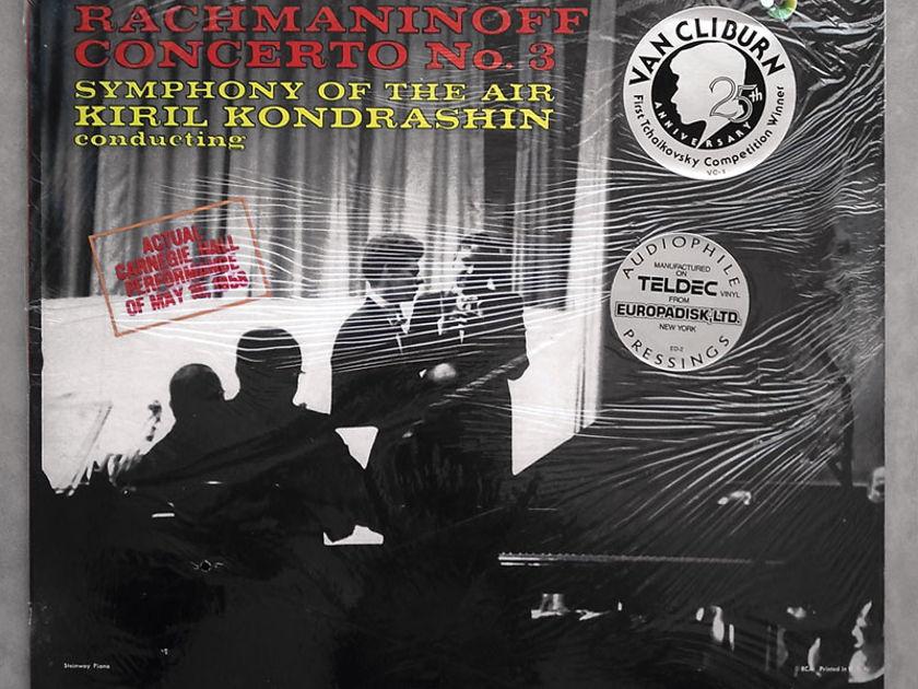Sealed RCA Half-Speed | CLIBURN/KONDRASHIN/RACHMANINOFF - Piano Concerto No. 3