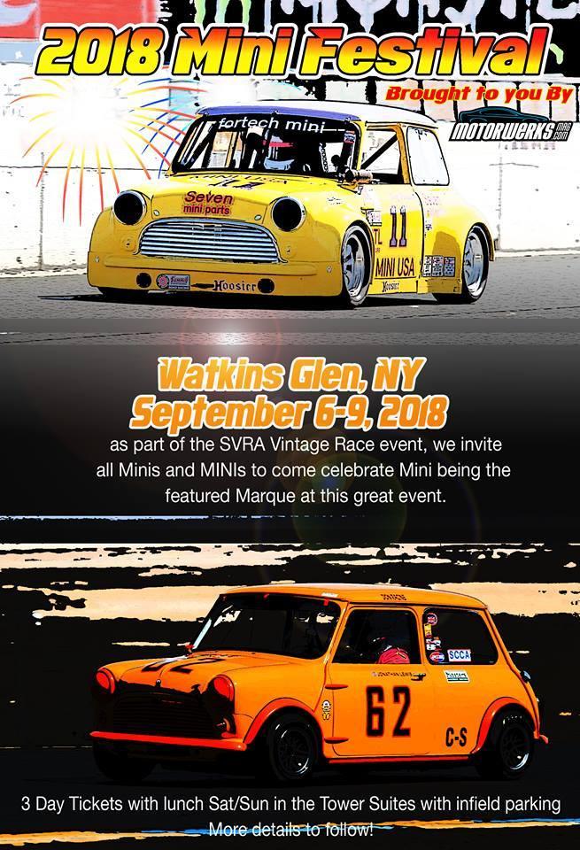 Watkins Glen Mini Festival - with SVRA info on Sep 7, 2018 (071263 ...