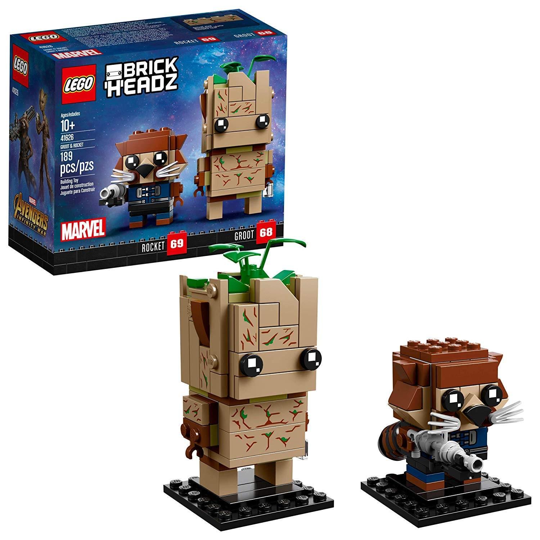 lego brickheadz groot and rocket