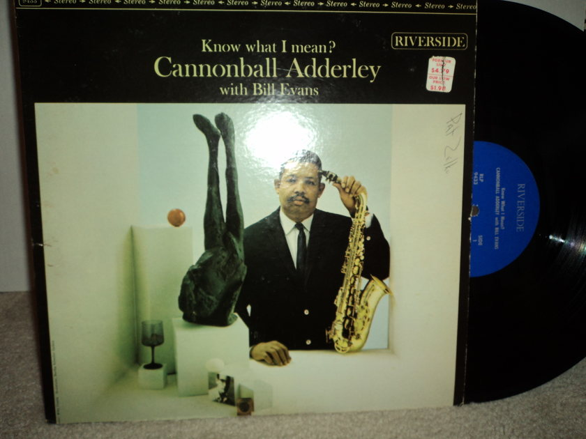 """Cannonball Adderley With Bill Evans - """"Know What I Mean?"""" 1961 Riverside RLP 433"""