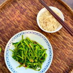 Authentic Thai stir fried Morning Glory