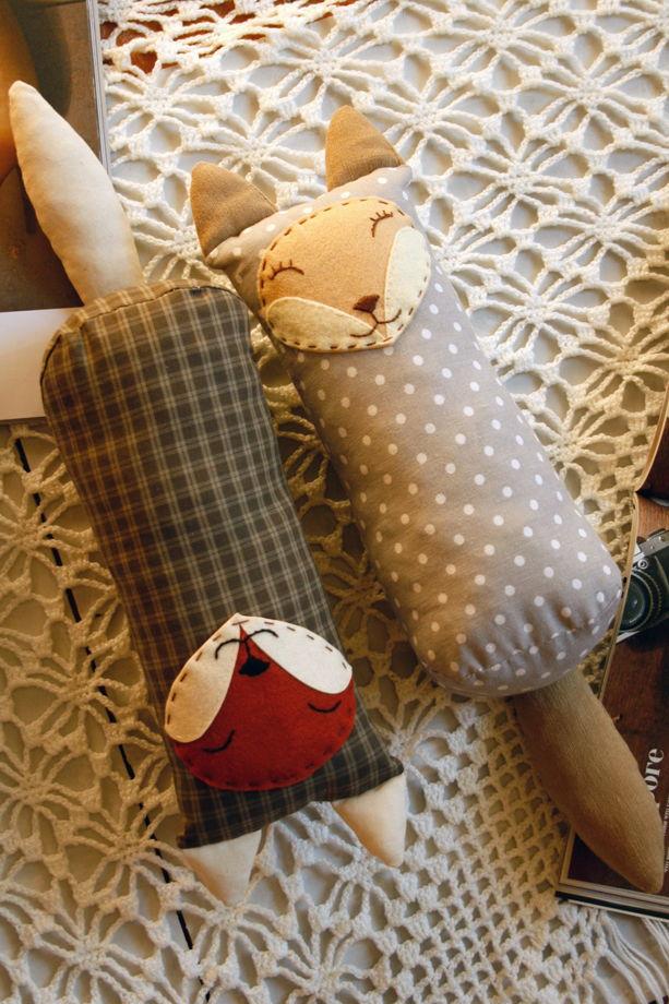 Текстильная игрушка-сплюшка Лисичка