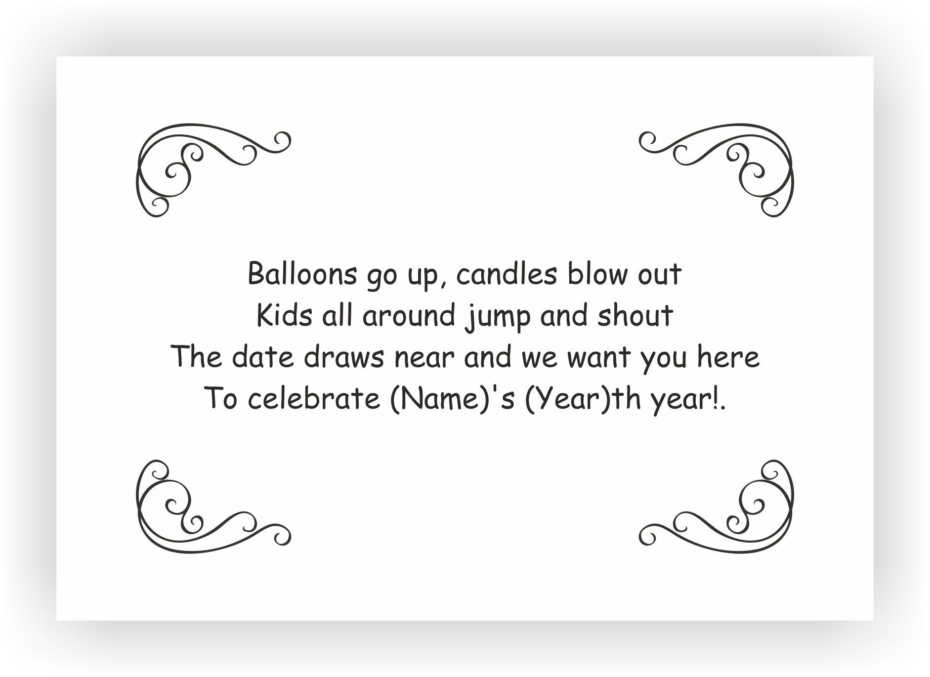 Birthday Party Invite Messages – Birthday Party Invitations Messages