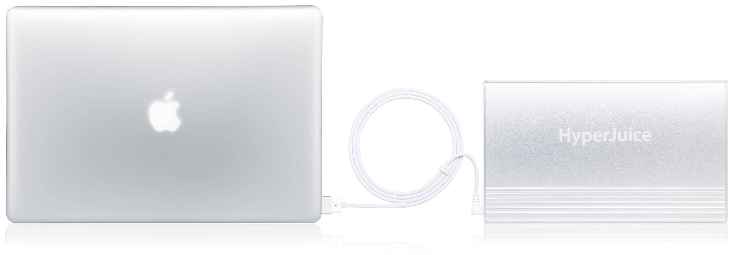 Hperjuice power bank connected with macbook pro