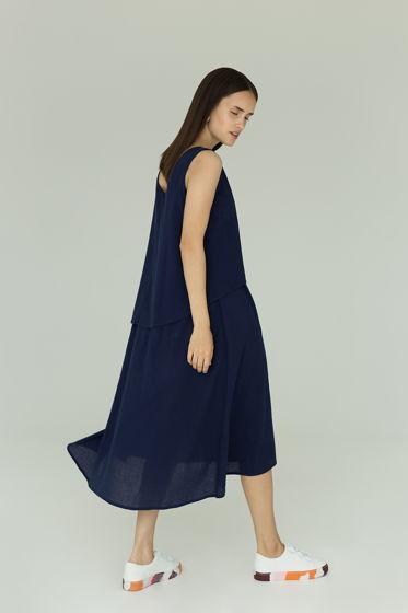 Платье из марлевки без рукавов