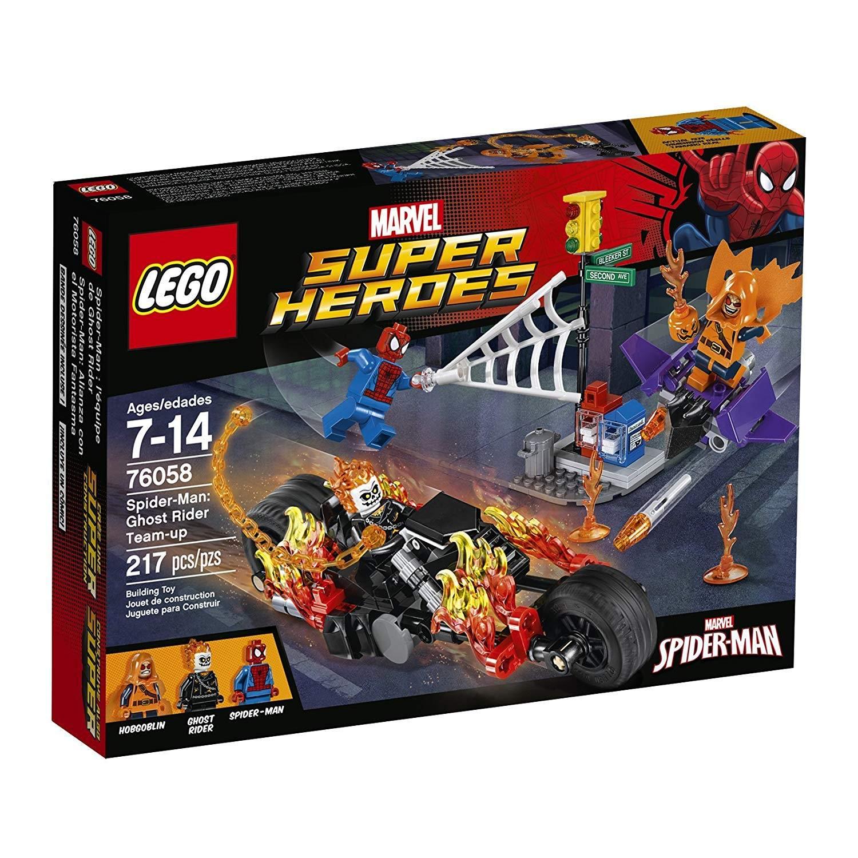 lego spider man ghost rider team up