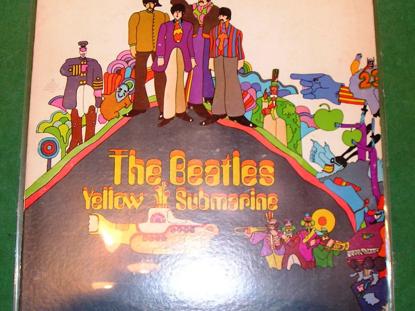 """BEATLES (The)  """"YELLOW SUBMARINE"""" - 1969 GREEN APPLE TIP-ON LABEL ***9/10***"""