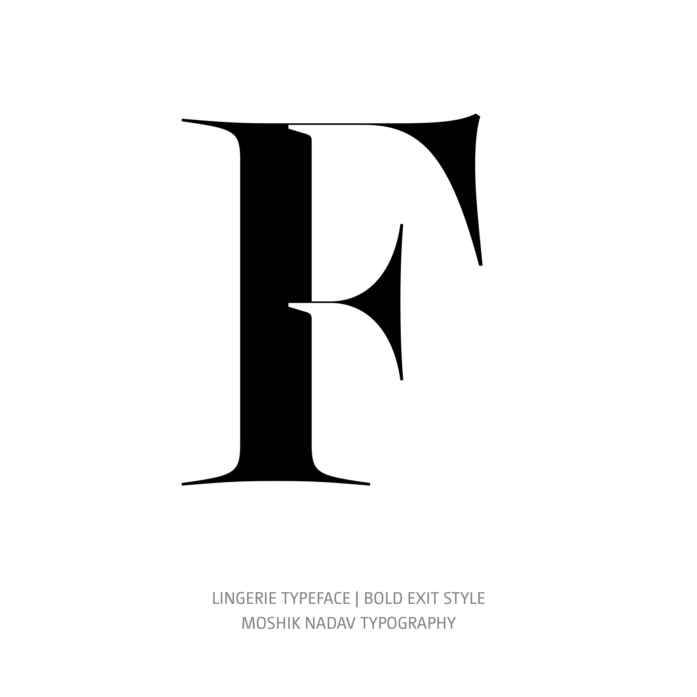 Lingerie Typeface Bold Exit F