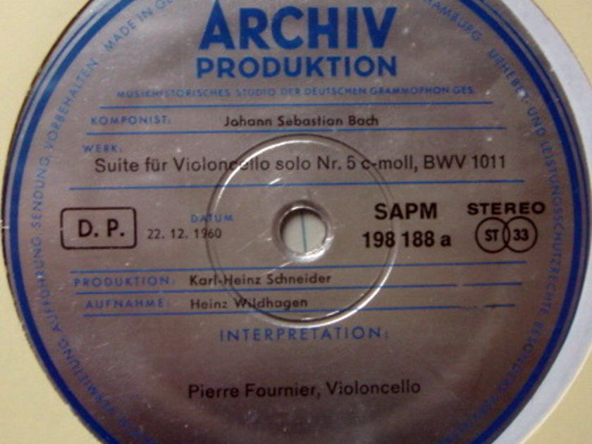 1st Press Archiv / FOURNIER, - Bach Suites for Cello Solo No.5 & 6, MINT!