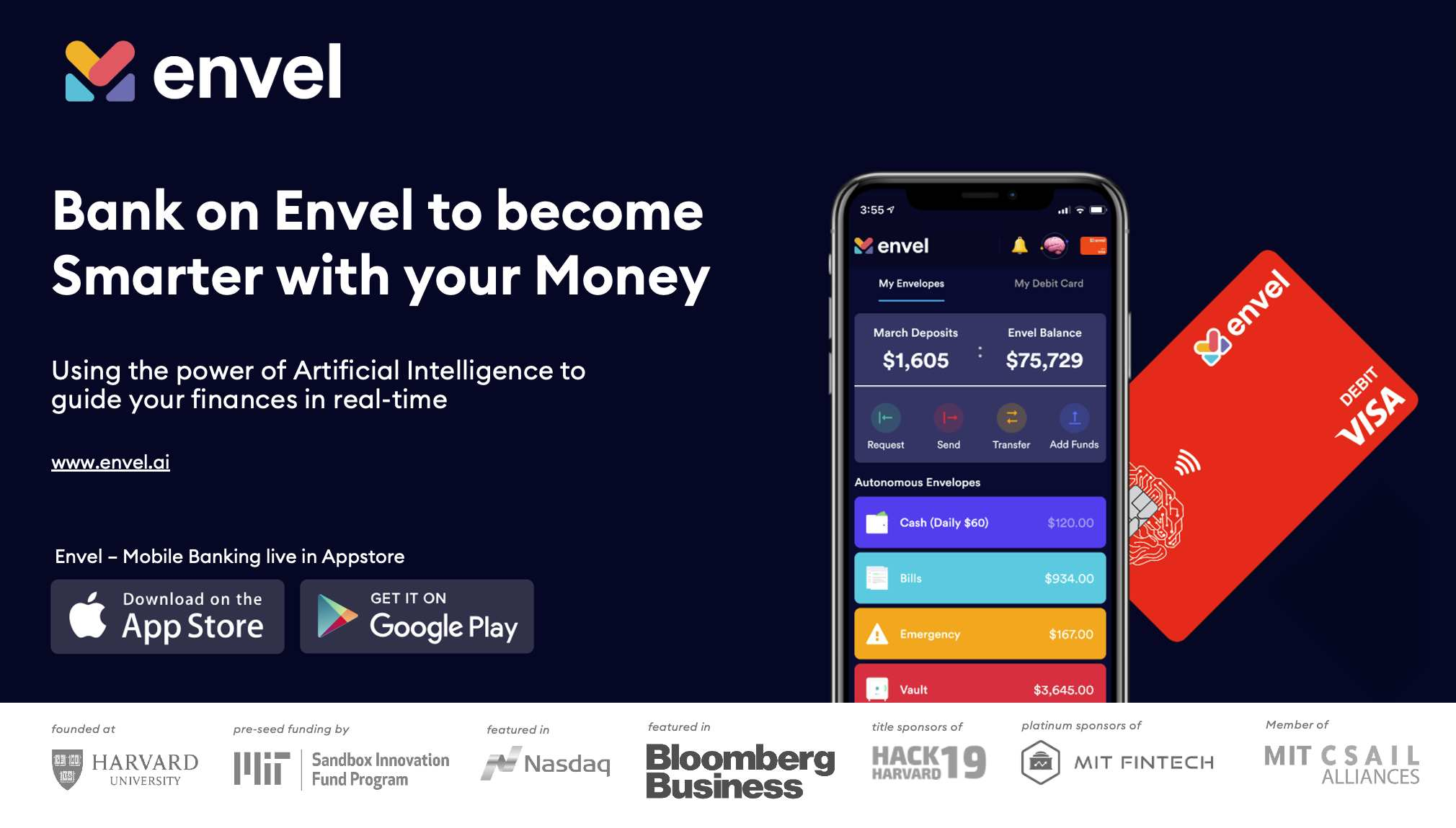 Download the Envel App and Sign-up for an Account