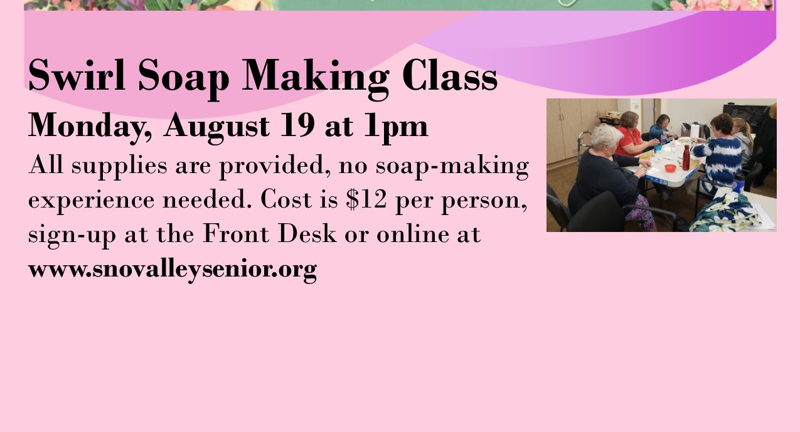 Swirl Soap Making Class   Aug 19   Snoqualmie Valley Record