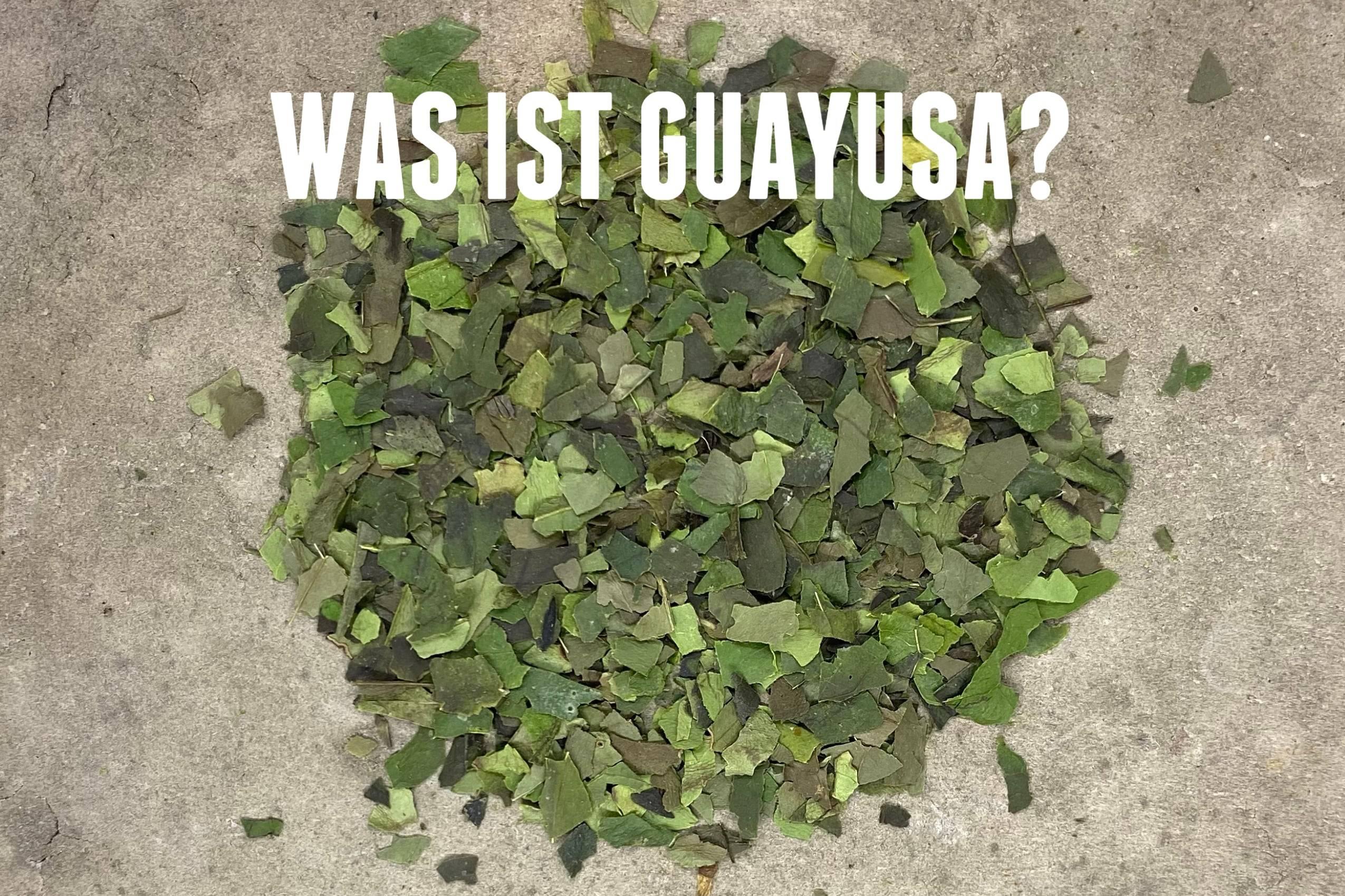 Juma-Tea Bio Guayusa auf einem Hintergrund aus holz