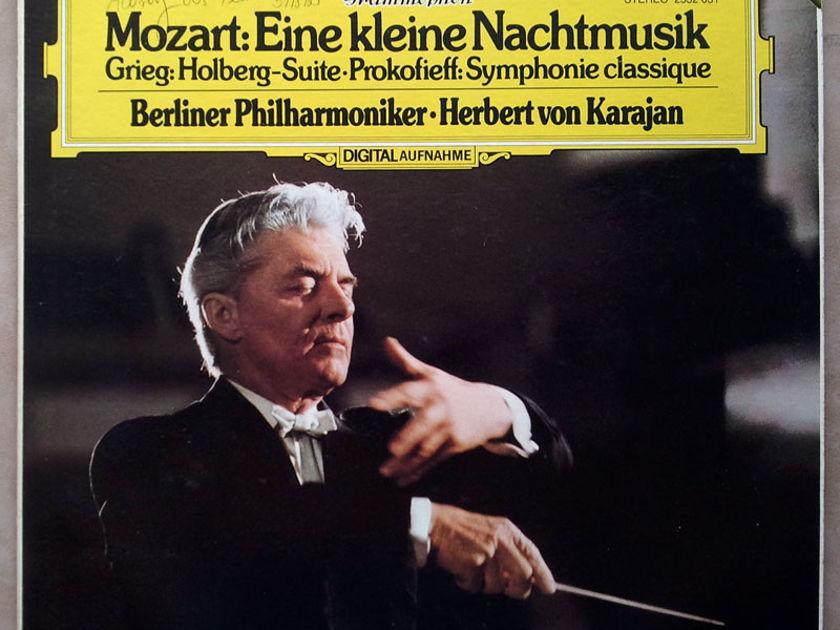 DG/Karajan/Mozart - Eine kleine Nachtmusik, Grieg Holberg Suite, Prokofiev Classical Symphony  / NM