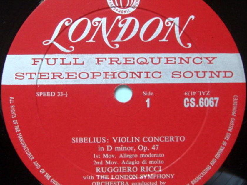 ★1st Press★ LONDON-DECCA FFSS-WB-BB / RUGGIERO RICCI, - Sibelius Violin Concerto, VG+!