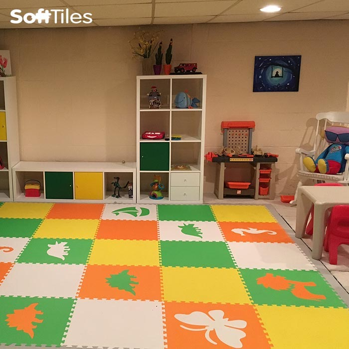 Foam mats for basement kids 39 play mats softtiles Playroom flooring ideas