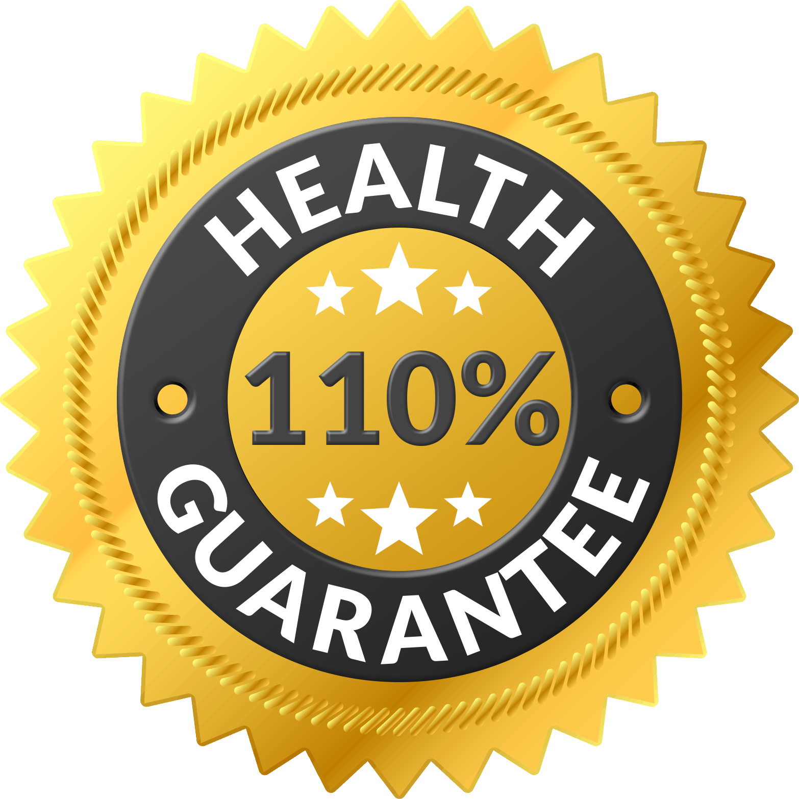 110% Health Guarantee Logo