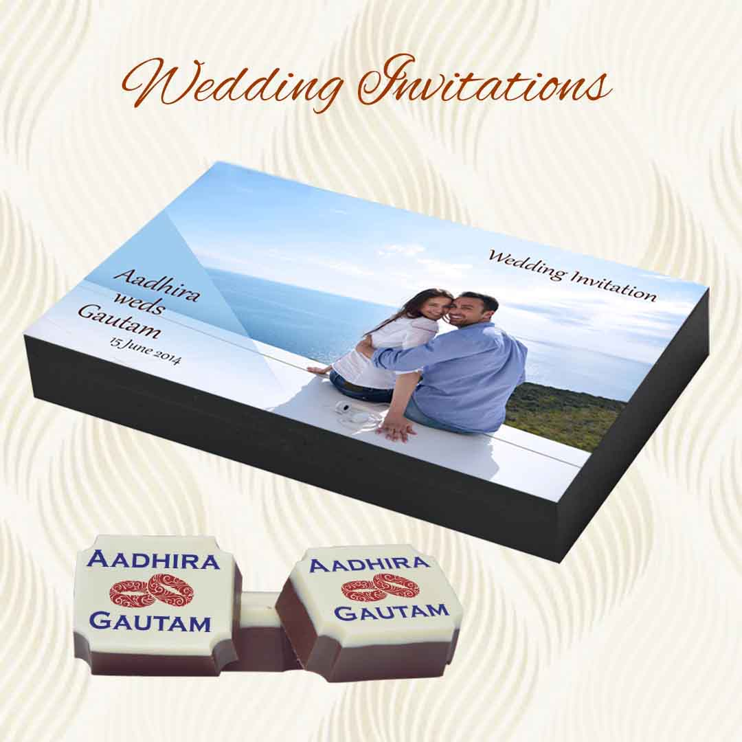 Wedding invitation on Chocolates in Delhi