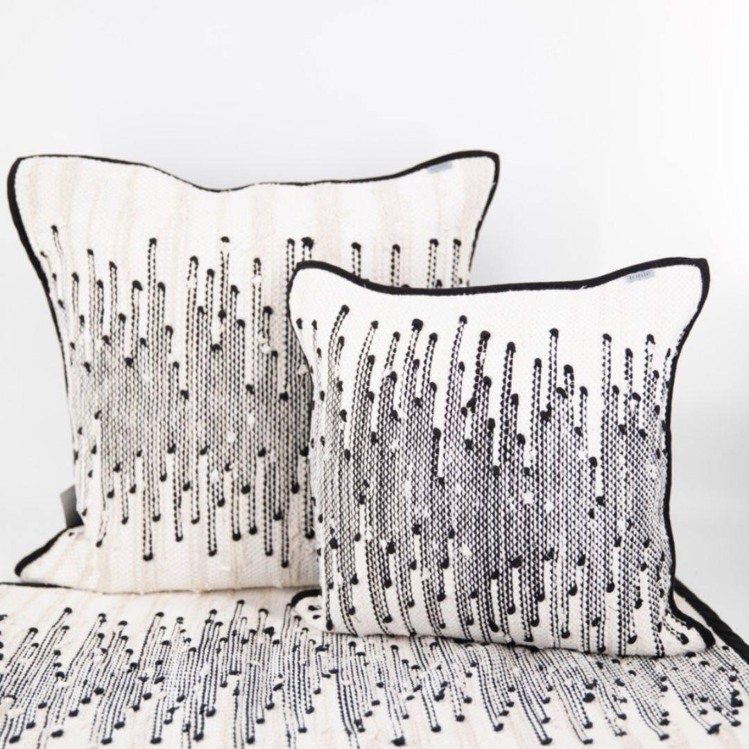 tonle zero waste black and white pillow cases