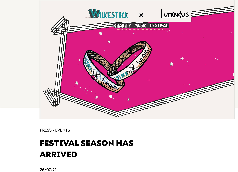 Festival Season Has Arrived