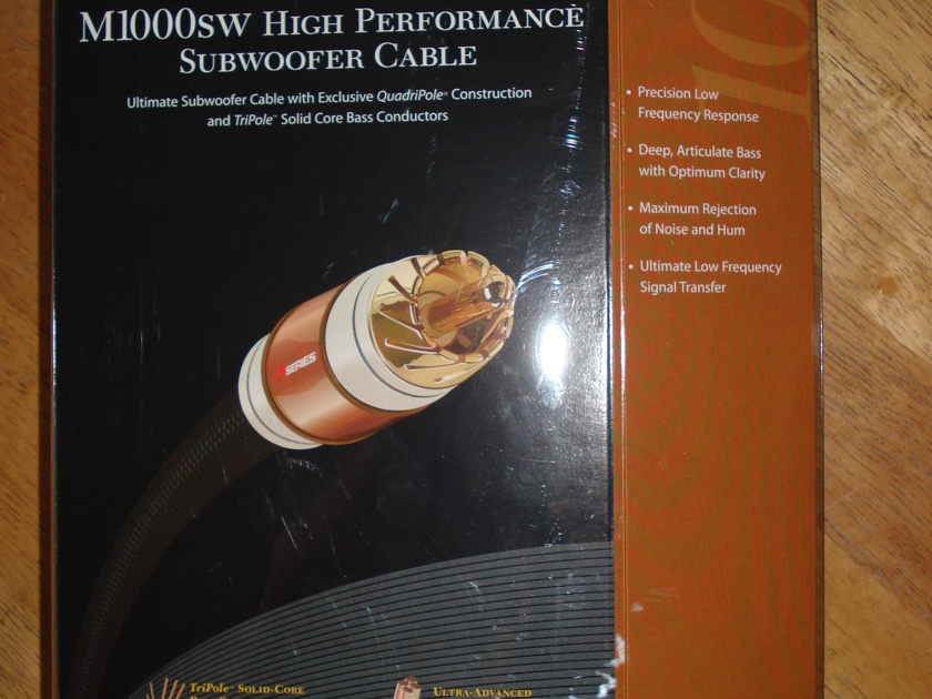 Monster M1000SW Subwoofer Cable-20ft