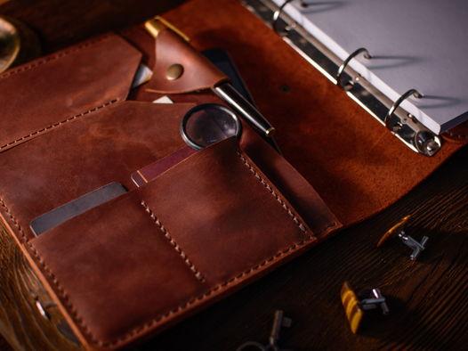 Бизнес блокнот-органайзер/папка для Ipad Mini -RESPECT- формат А5 цвет Cognac