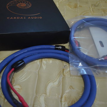 2M pair with spades speaker cables