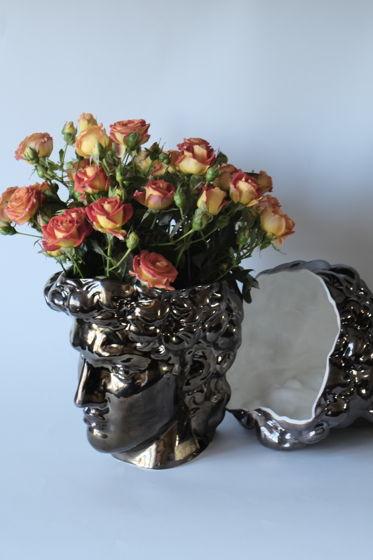 Цветочное кашпо | ваза Давид красное золото