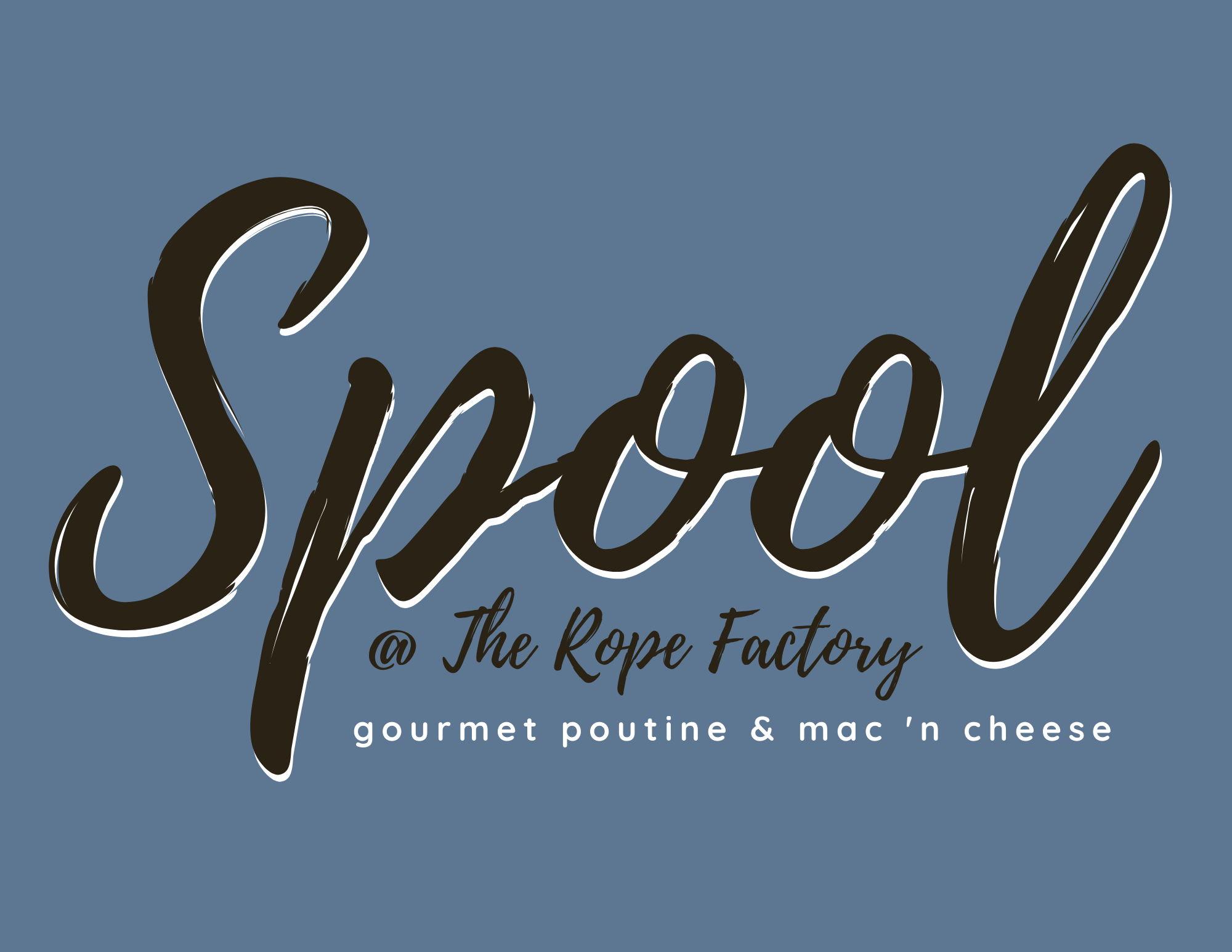 Logo - Spool @ The Rope Factory - Gourmet Poutine & Mac 'N Cheese