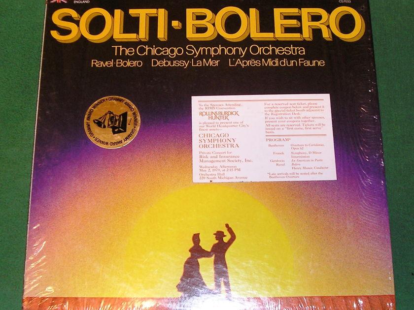 GEORGE SOLTI - BOLERO - *1977 LONDON IMPORT with RIMS CONVENTION STICKER* NM 9/10