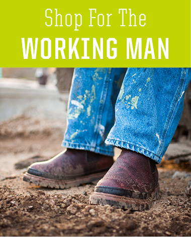 Shop work boots for men. A great holiday present for husbands, sons, and friends.