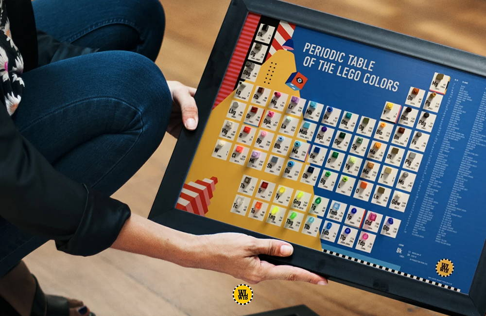 The Periodic Table of LEGO Colors