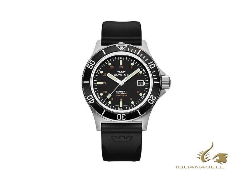 glycine combat sub automatic watch change strap