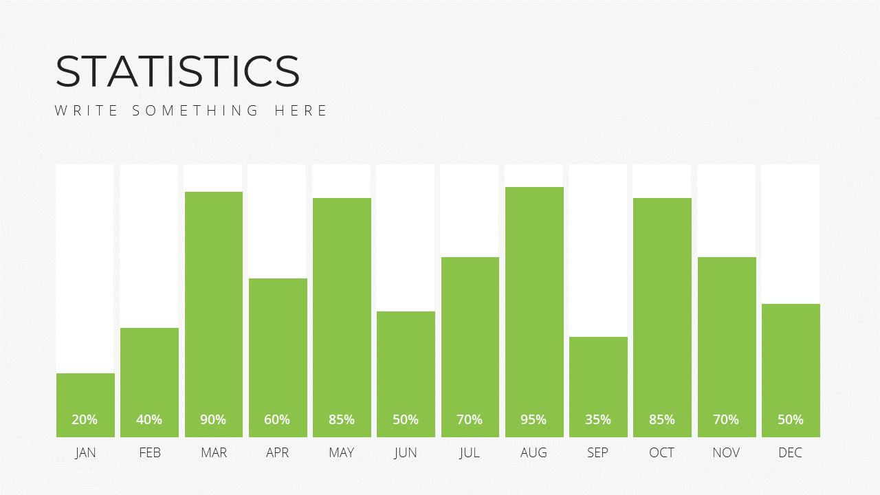 Minimal X Sales Deck Presentation Template Statistics