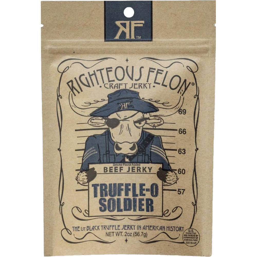 Righteous Felon Truffle-O Soldier Beef Jerky JerkyGent