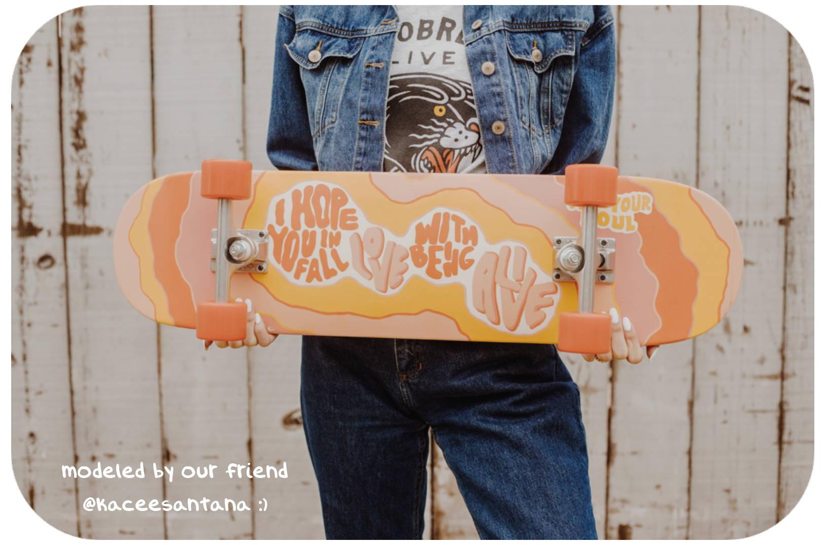 feel your soul skateboard converse