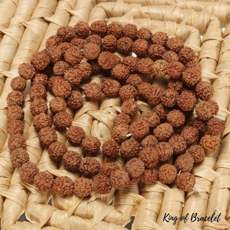 Bracelet en Perles de Graine de Rudraksha - King of Bracelet
