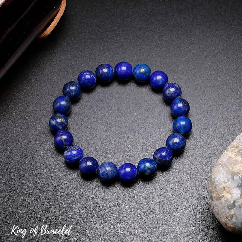 Bracelet de Lithothérapie en Lapis Lazuli - King of Bracelet