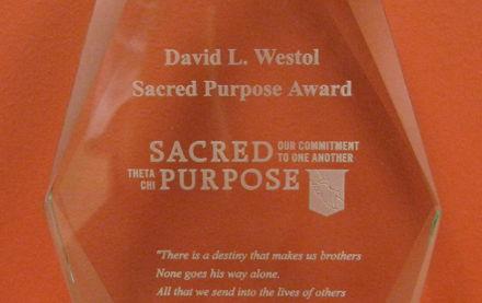 Image for Gamma Tau/Drake University receives the 2016/2017 David L. Westol Sacred Purpose Award