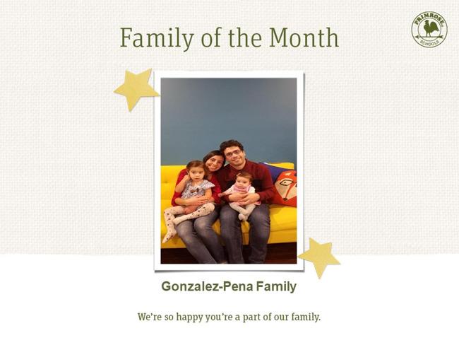 Primrose family of month - September - parent appreciation