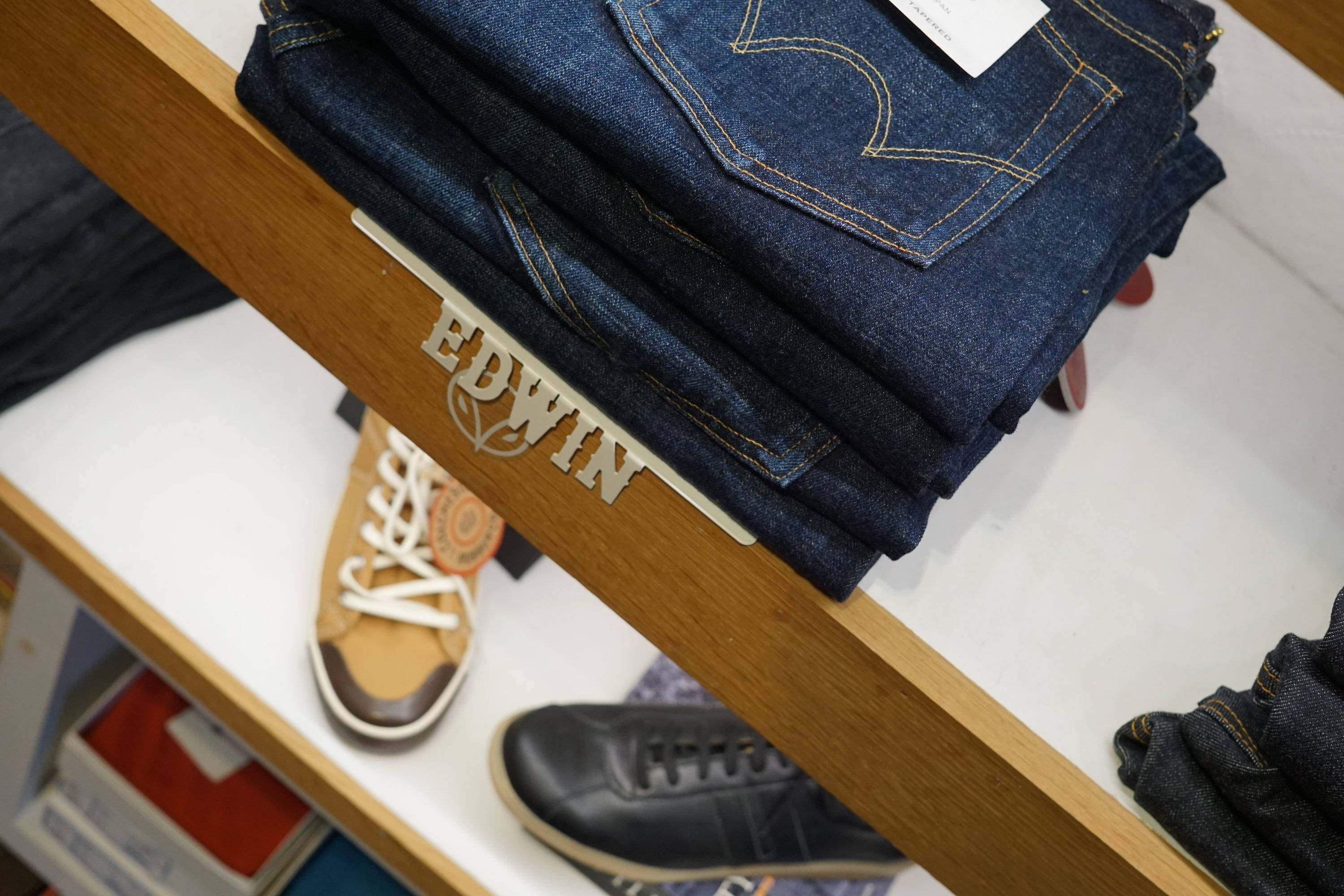 Edwin salvage denim jeans on our contemporary top floor