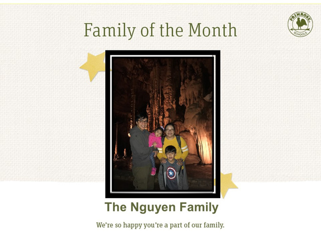 Congratulations on being our January Family of the Month!