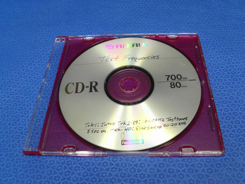 Audio Test Tones CD Set Up Disc Calibration - A must have for RTA Equalizer & analyzing / set up  your system  speakers or subwoofer