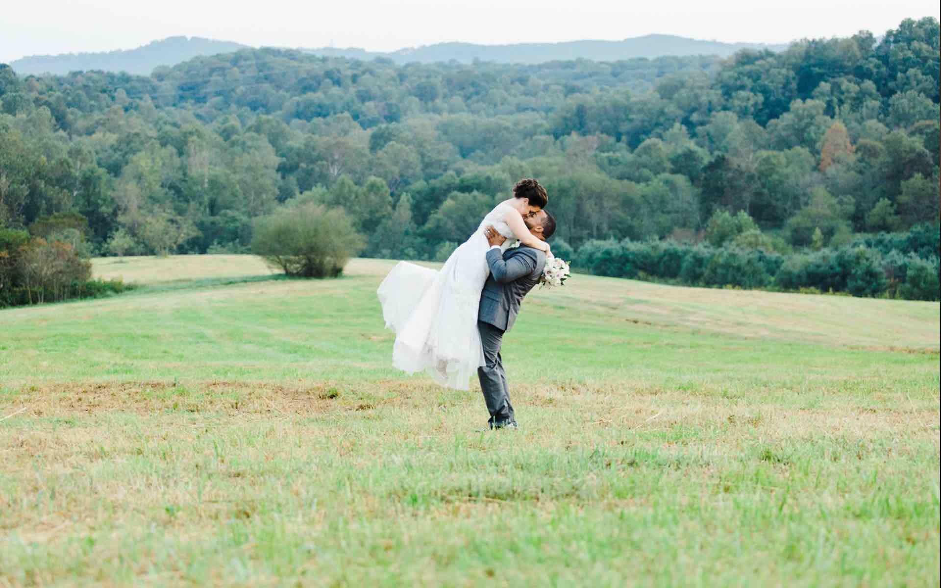 Picture Perfect Mountain Wedding With A Father Daughter Dance Surprise
